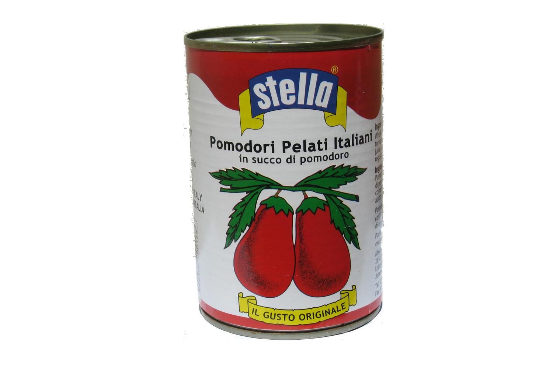 Stella whole peeled tomatoes 400g