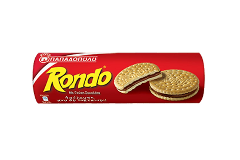 Rondo chocolate sandwich biscuits 250g