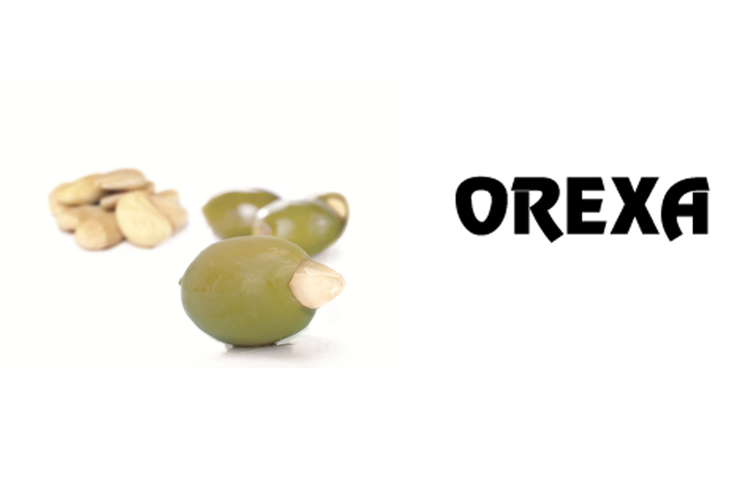 Orexa green olives stuffed with almond 13kg