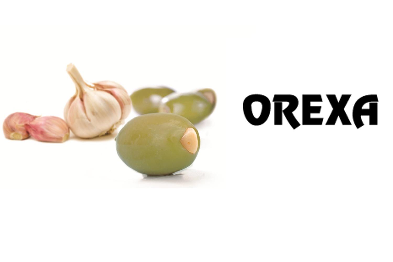 Orexa green olives stuffed with garlic