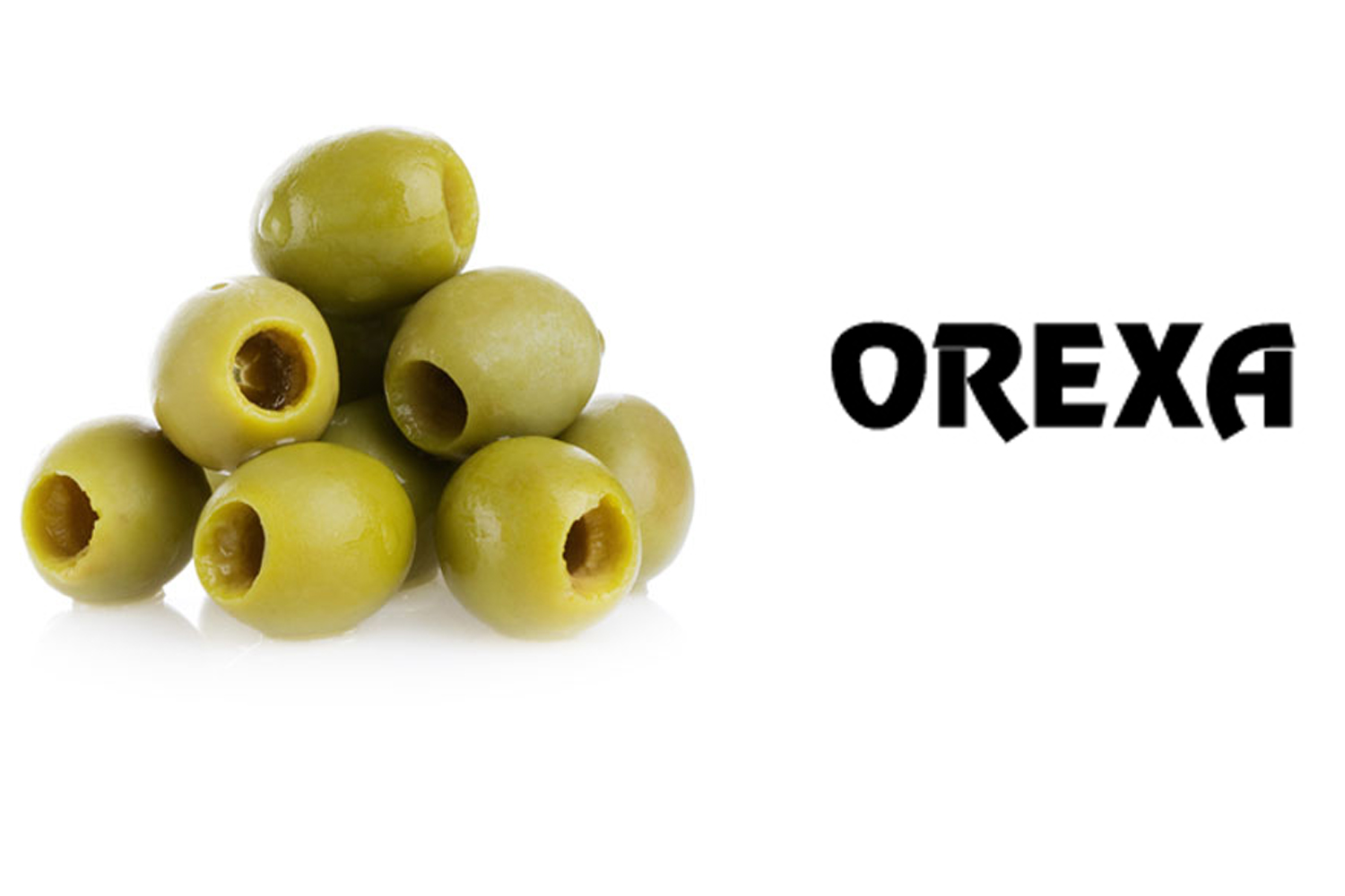Orexa green olives pitted