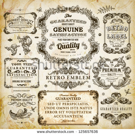 stock-vector-vector-set-of-calligraphic-design-elements-page-decoration-premium-quality-and-satisfaction-125657636.jpg