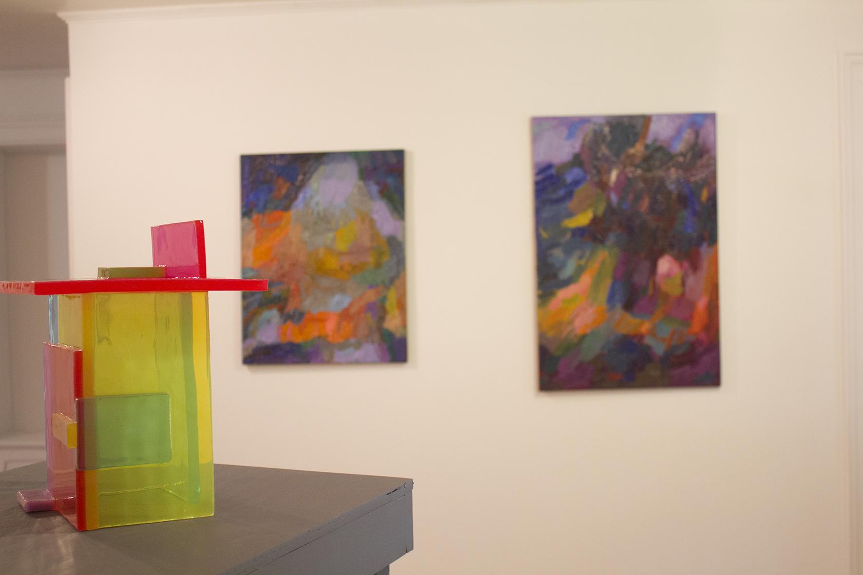 Victoria Palermo &Ewelina Bochenska in Cary House Gallery. 2014