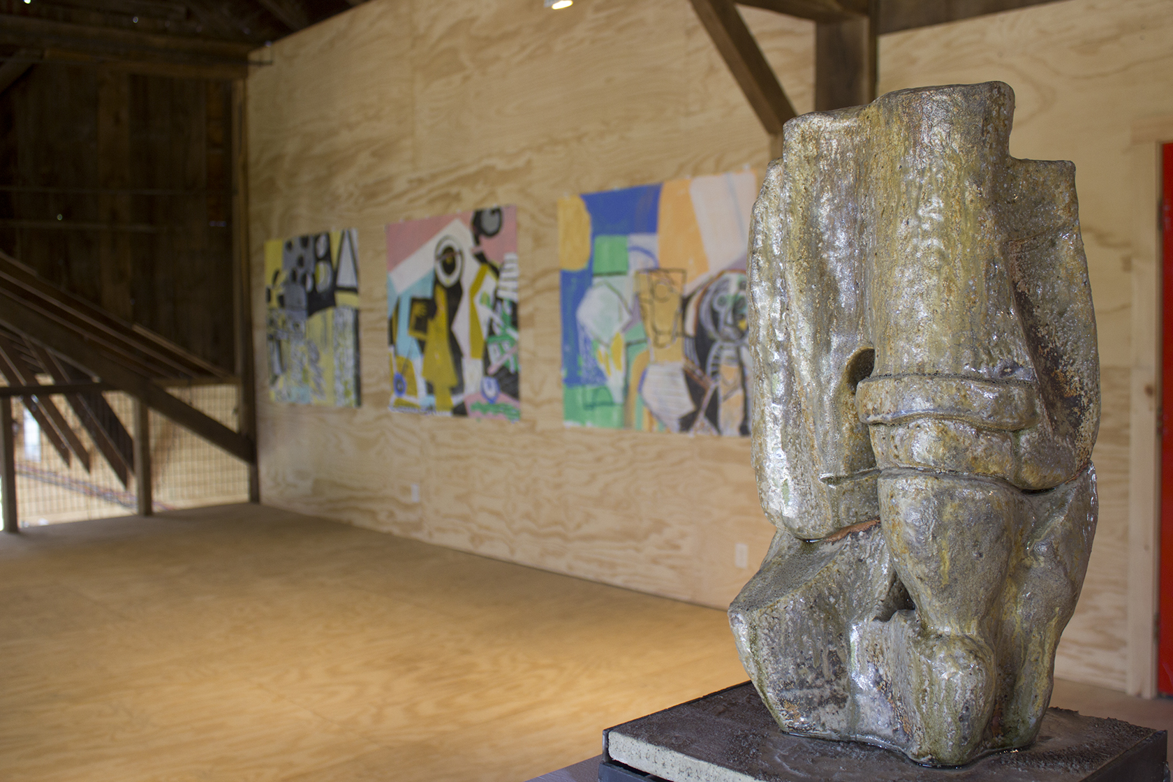 Dan Greenfeld and Anne Richter in Barn 1, 2nd Floor. 2014
