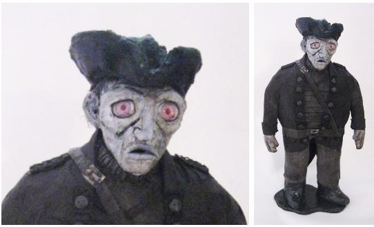 """""""The Gray Man""""Ceramic, Mixed Media, 2015"""