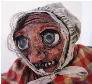 """""""the Haunted Chimney""""  Ceramic, Mixed Media, 2015"""