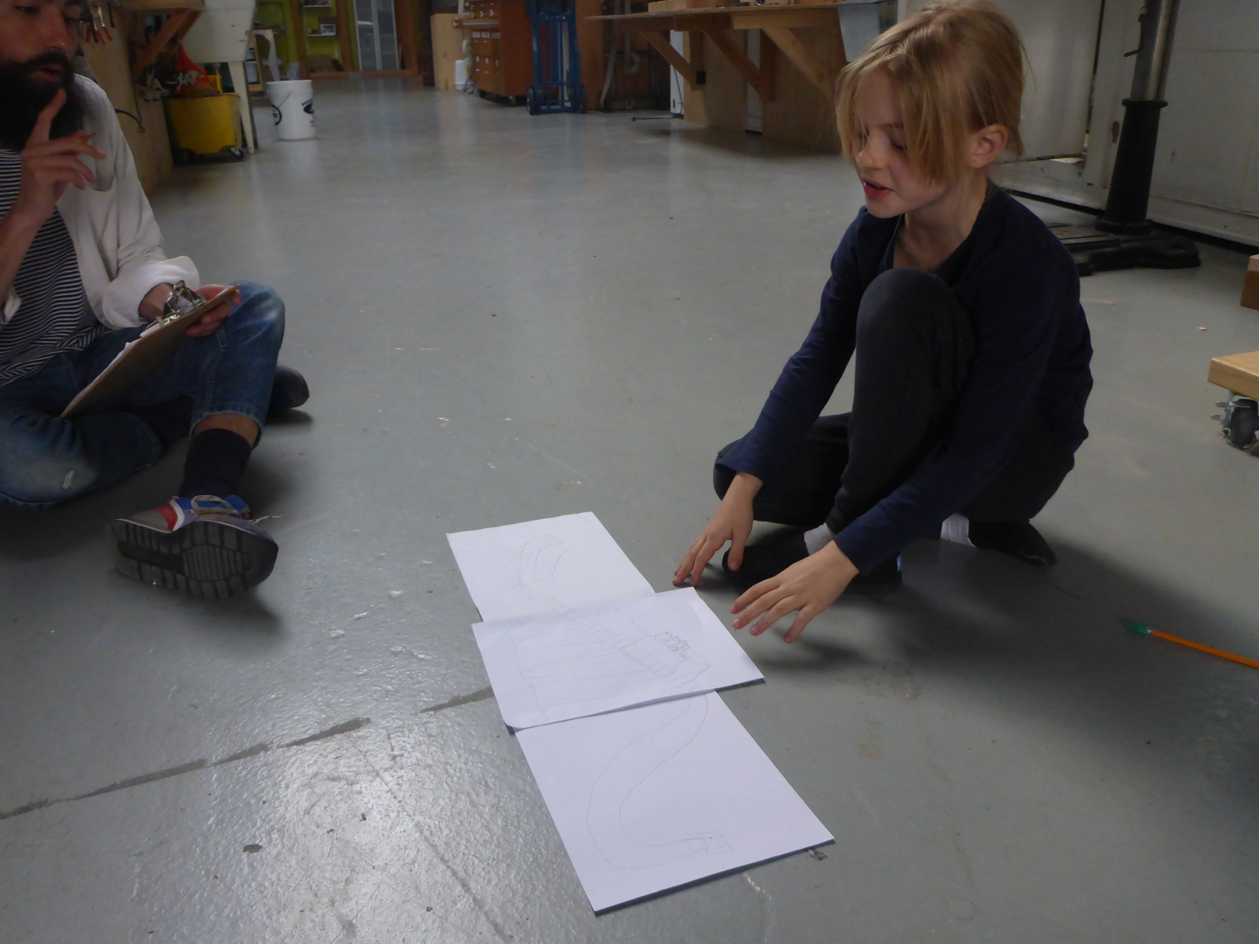 Big idea's require big designs. Ida's car on a track design expands across three pages just to hold all her ideas!