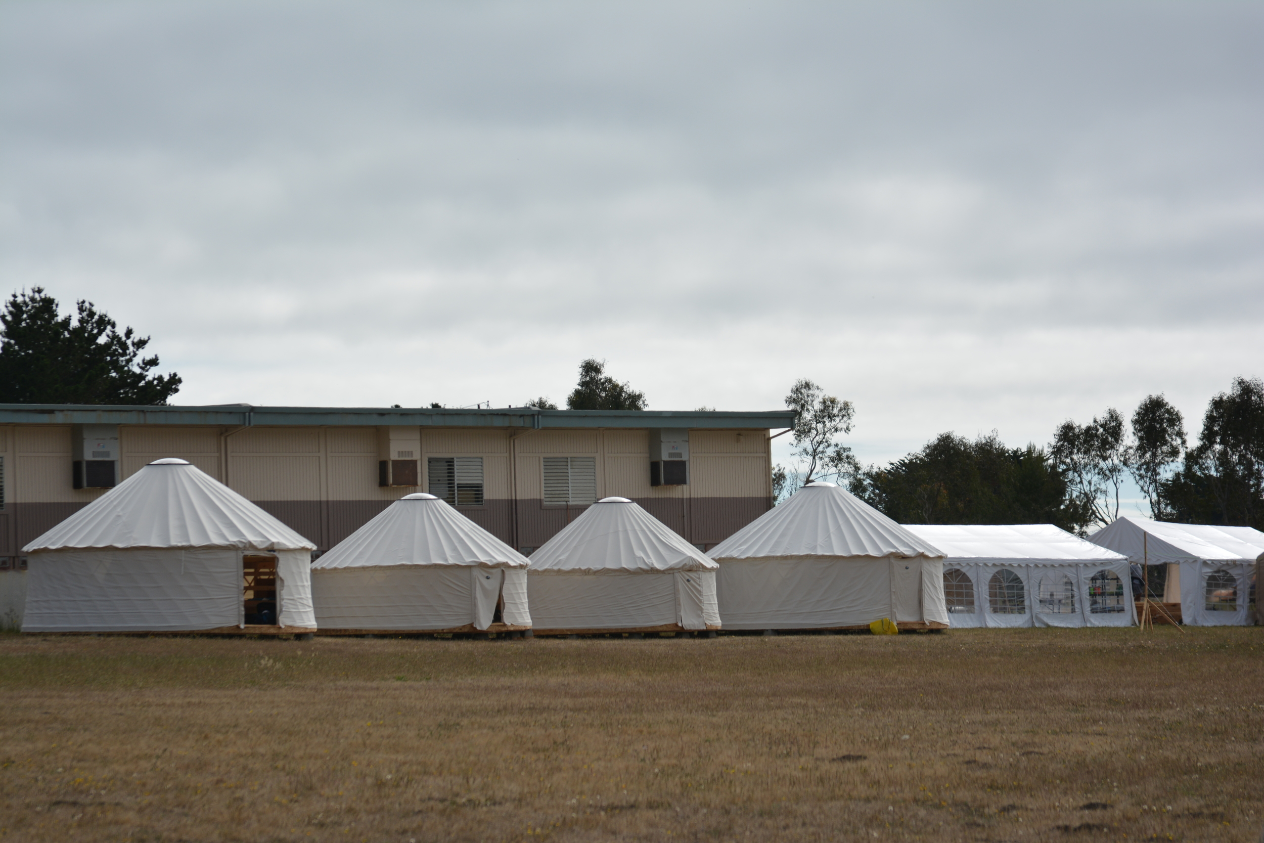 During siesta, everyone stays in their yurts (almost) silently.