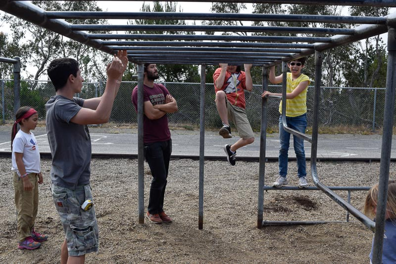 Josh, Sophie and Leo have a pull up competition for good measure.