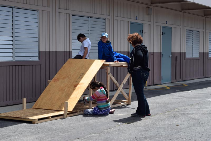 The Piki team is making a ramp that rotates, but because of that it is less stable.