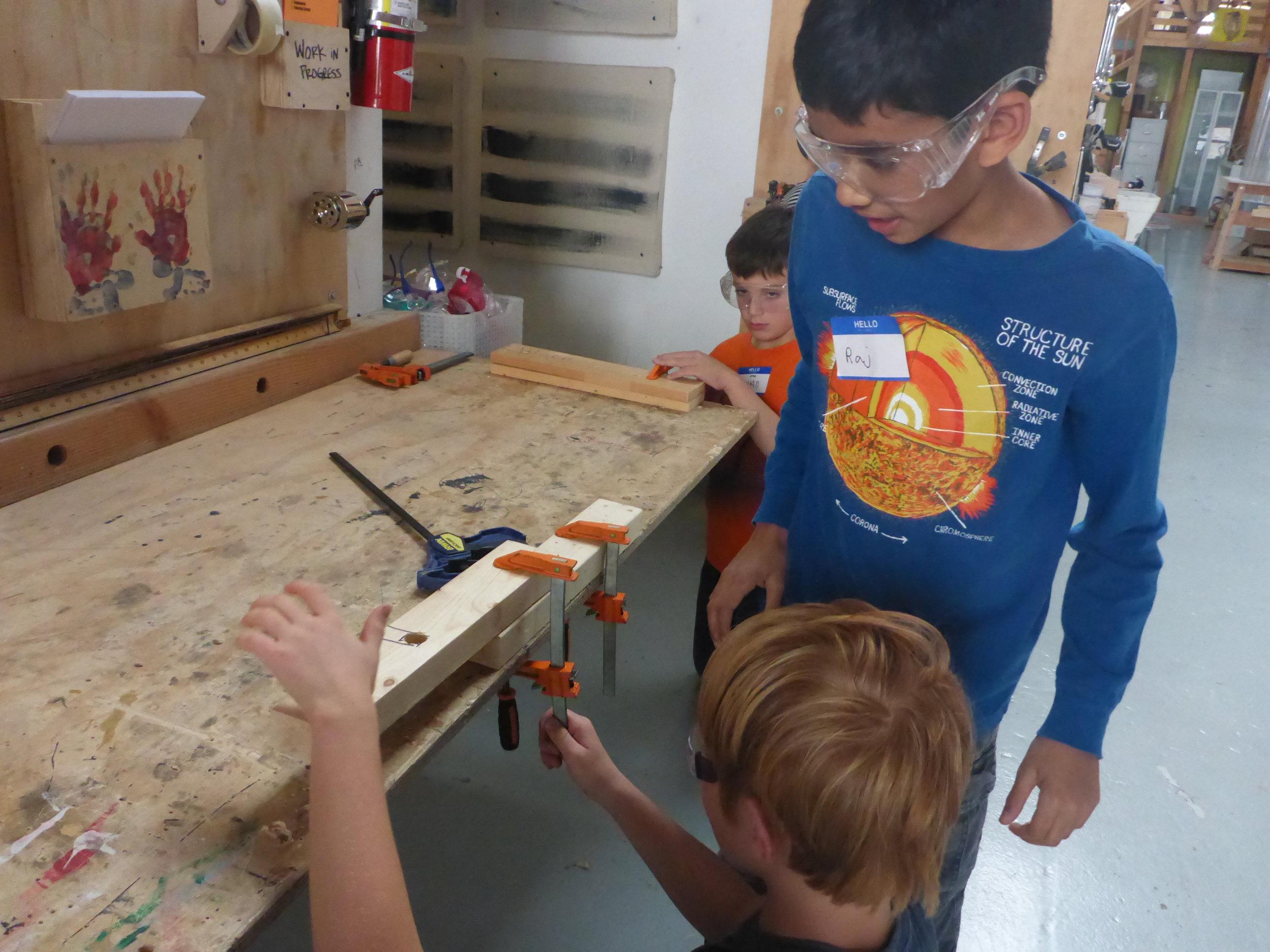 Raj and Jules practice rudimentary clamping