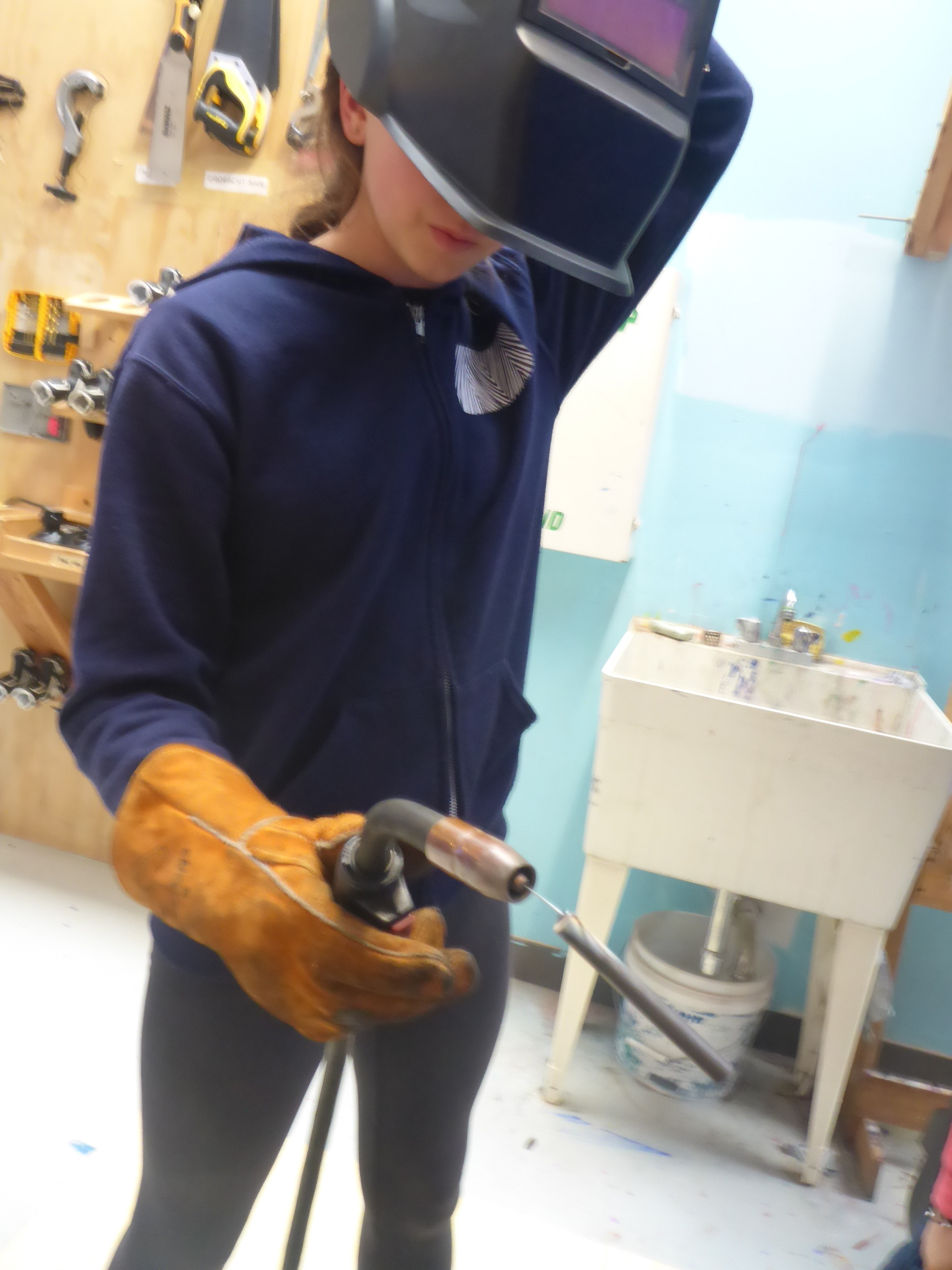 We welded the welder to our projects!
