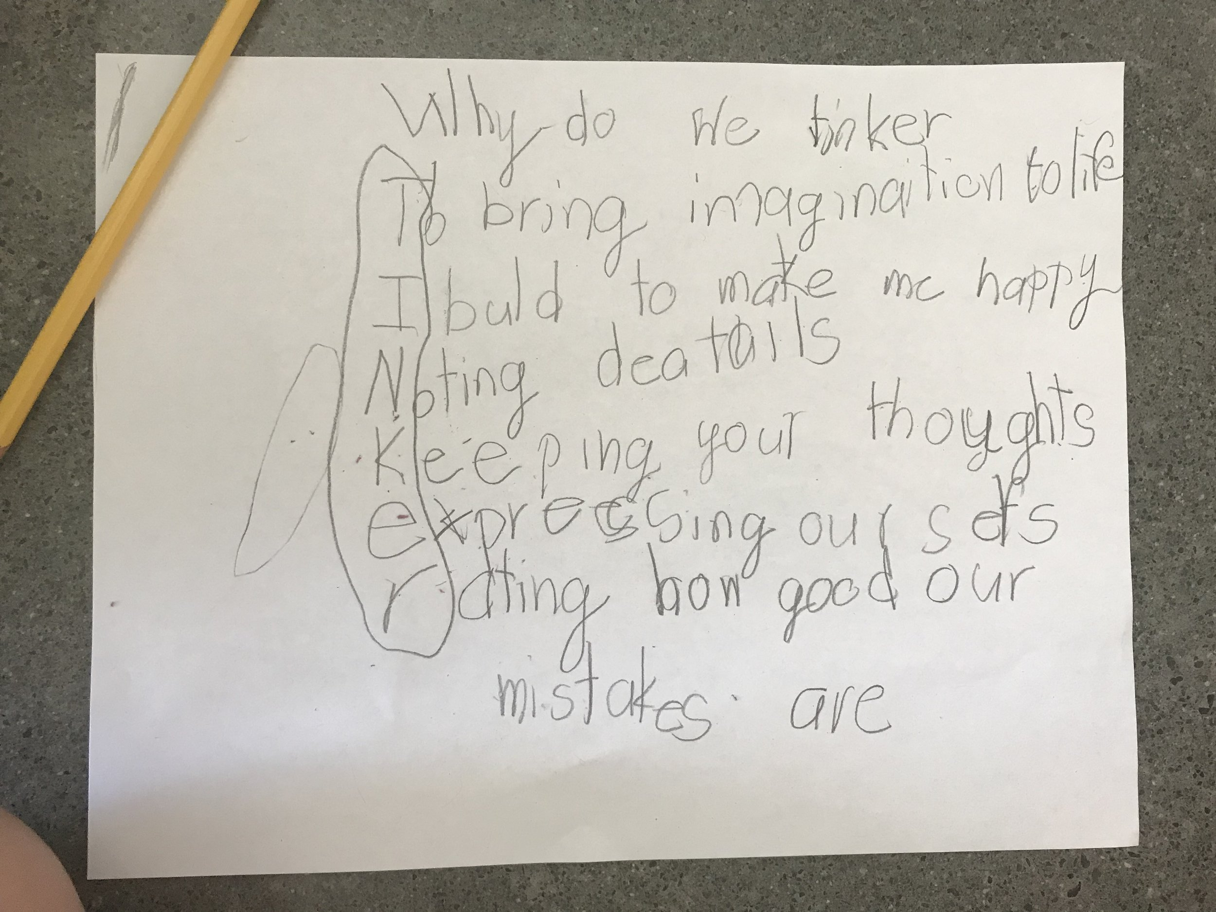 Why do we tinker? We got a lot of insightful answers, and this amazingly creative AND insightful one!