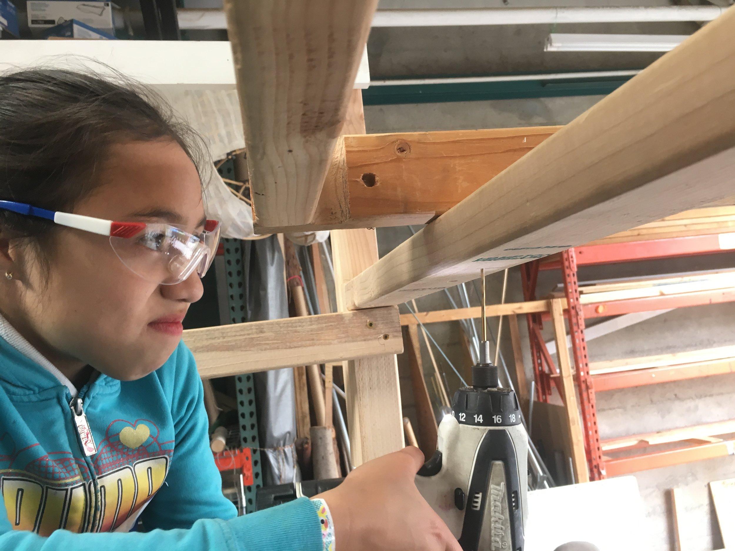 Marina drills like a pro!