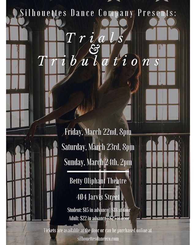 8 DAYS AND COUNTING TILL SHOW NUMBER 1!!!! Trials & Tribulations is almost here so get your tickets through the link in our bio or at silhouettesdanceco.com/events •