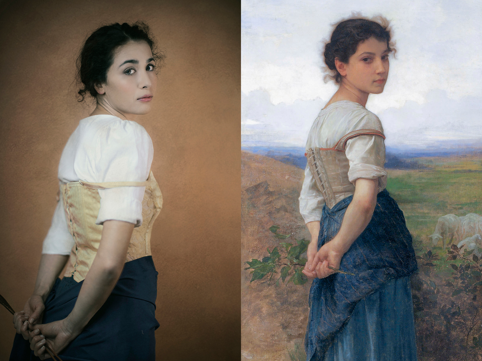 "William-Adolphe Bouguereau, ""giovane pastorella"" (1885)"