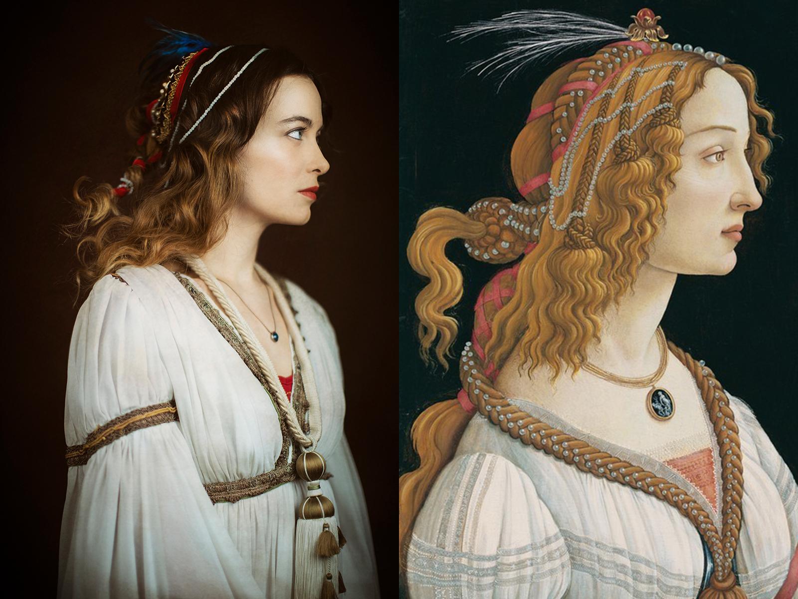 """Botticelli, """"Simonetta Vespucci"""" (1480)"""
