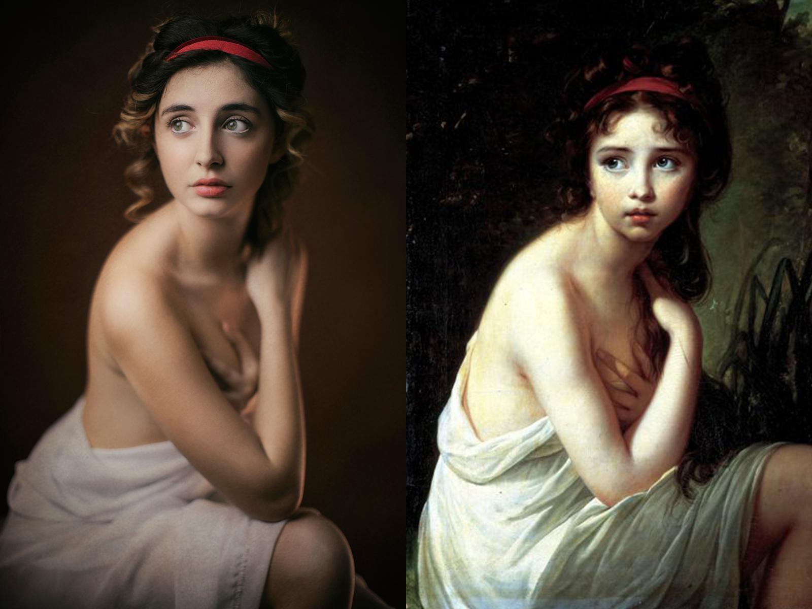 """Elisabeth Le Brun, """"la bagnante"""" (1792)"""