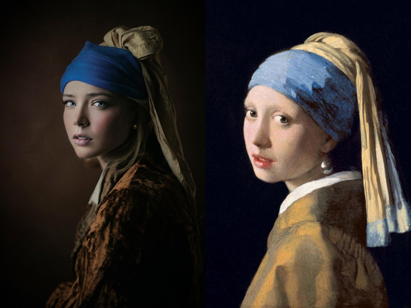 """Jan Vermeer, """"ragazza con orecchino di perla"""" (1665)"""