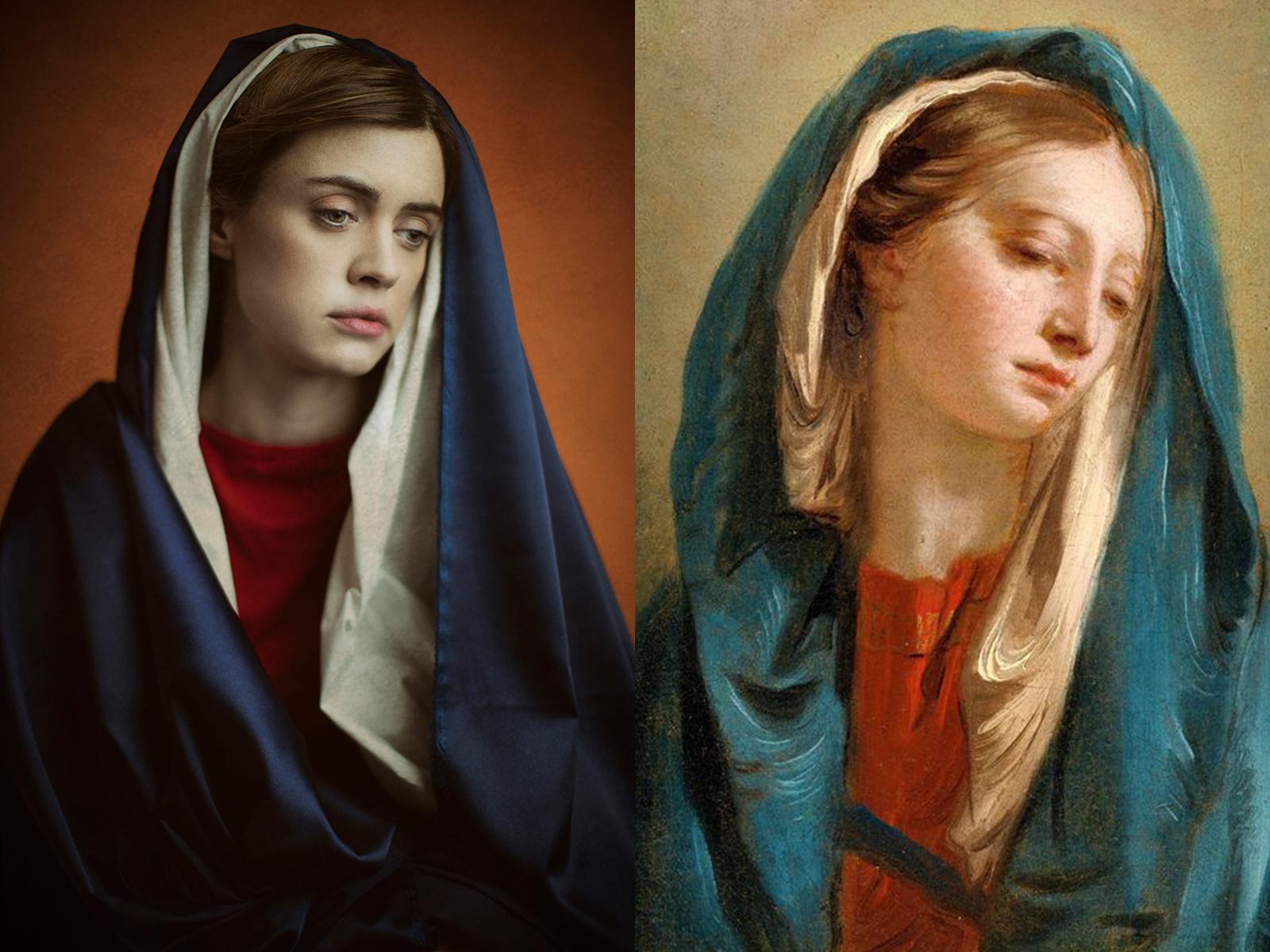 """Giambattista Tiepolo, """"madonna con mantello blu"""""""