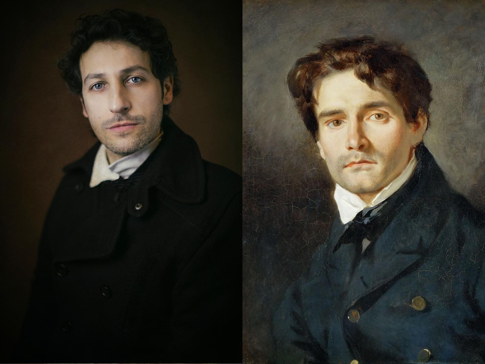 """Eugène Delacroix, """"ritratto di Leon Riesener"""" (1835)"""