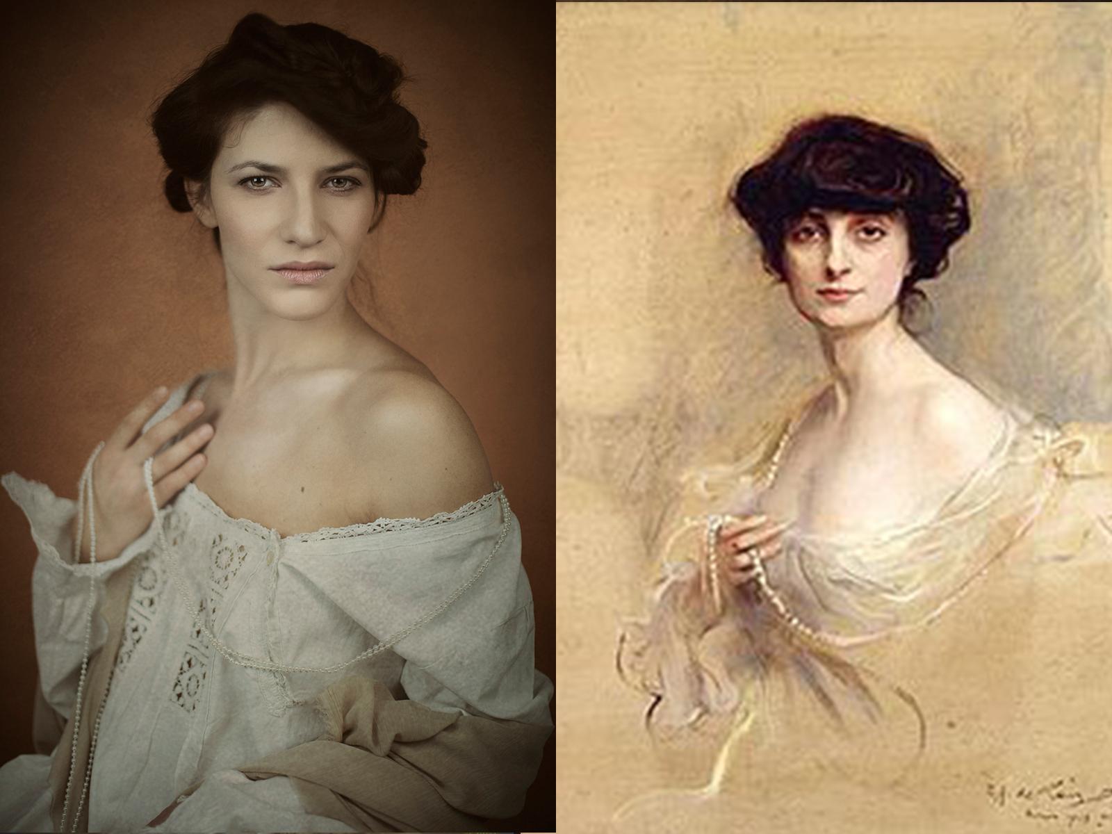 """Philip de Laszlo, """"contessa Anna de Noailles"""" (1913)"""