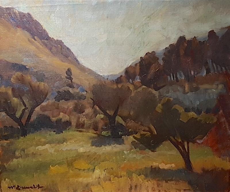Willy Eisenschitz  (Wien 1889 - 1974 Paris)  In der Provence  Öl auf Leinwand  46 x 55 cm, gerahmt  rechts unten signiert
