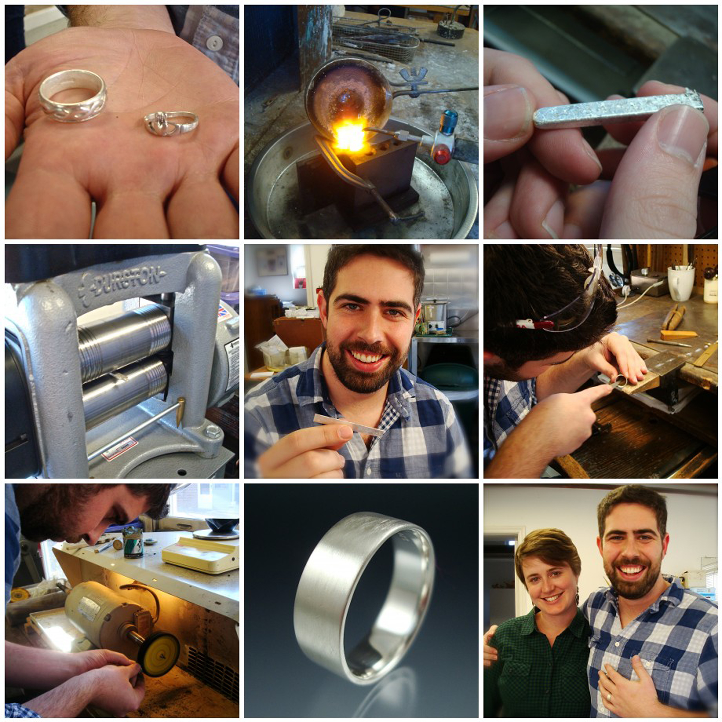 Ben and Erin traveled approximately 500 miles so they could melt down the rings they gave each other years ago into a new wedding ring for Ben!