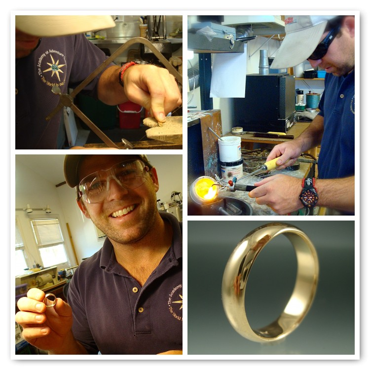 Hilson made his yellow gold wedding band.