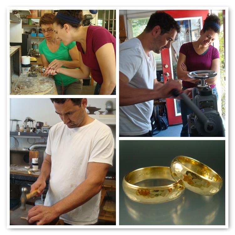 Lara and Dan made 14k yellow gold rings!