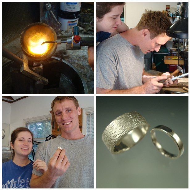 Sunni and William made sterling silver bands!