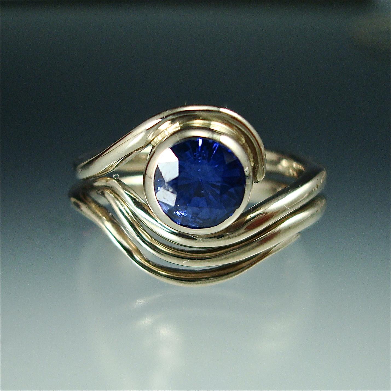 Custom Engagement Ring and Nesting Band
