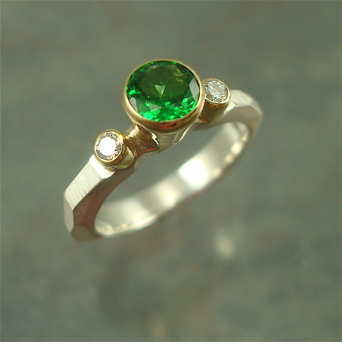 Custom Chiseled Engagement Ring