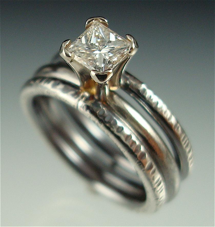 Custom Engagement Ring Set