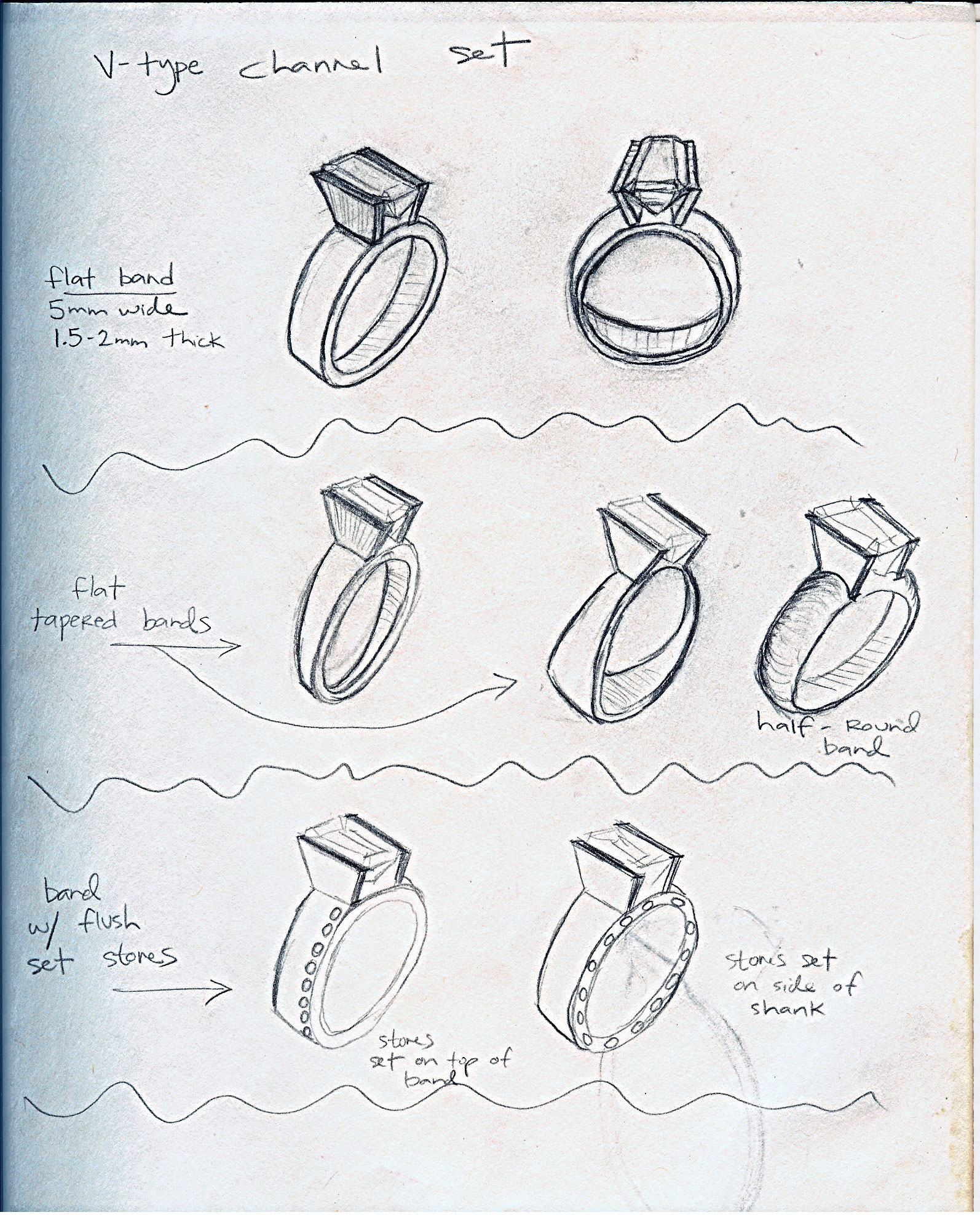 Sketch for custom ring
