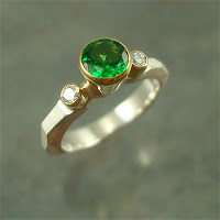 Ring with Tsavorite Garnet