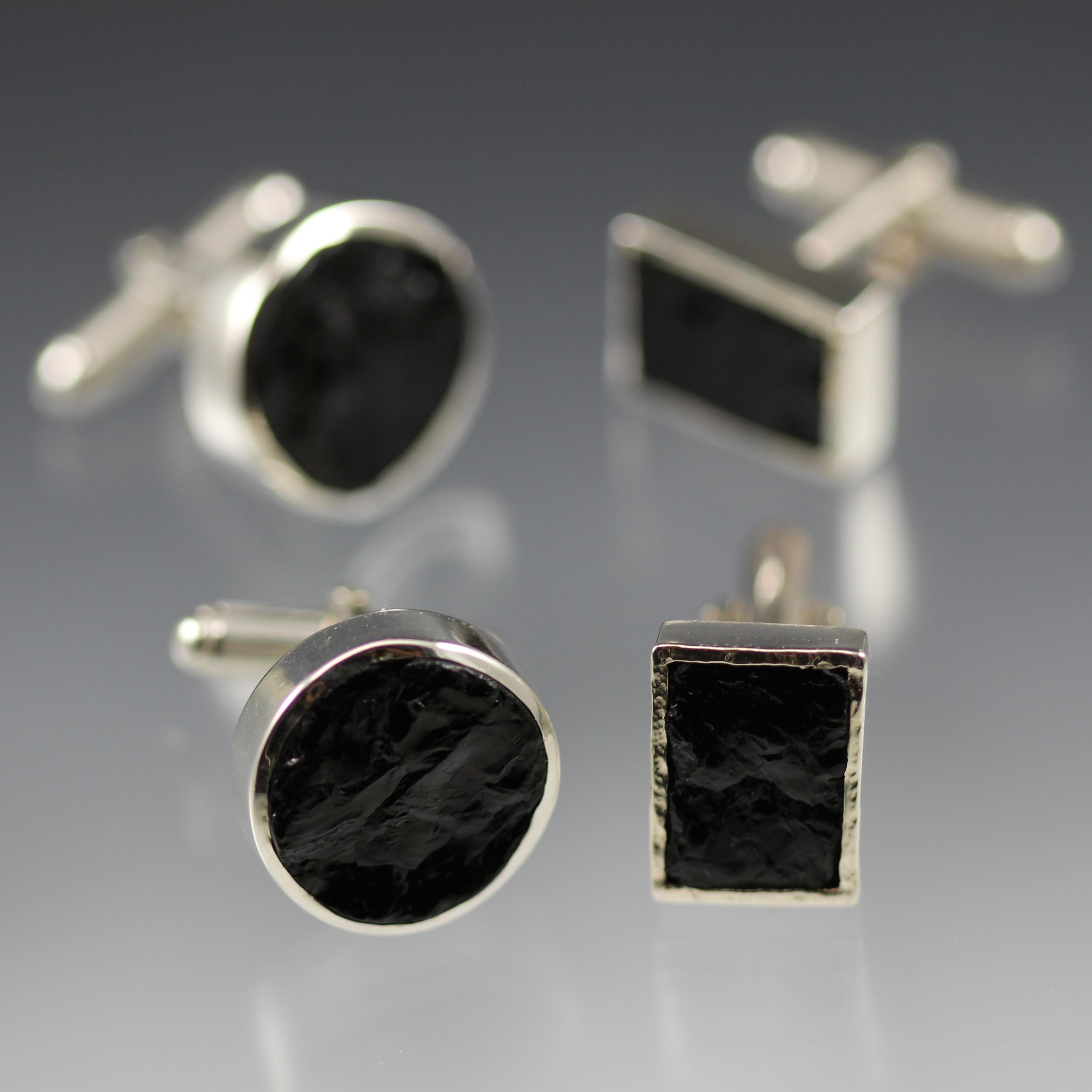 Black Tourmaline Cufflinks