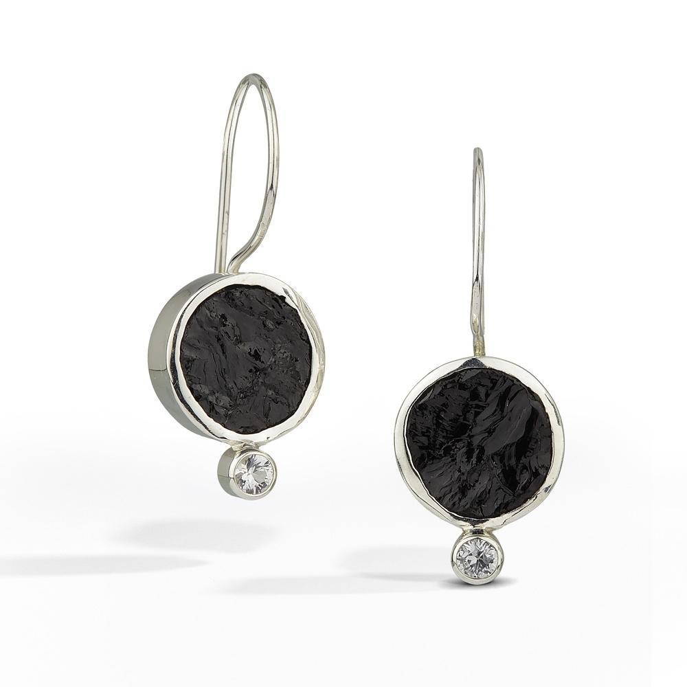 Black Tourmaline Earring