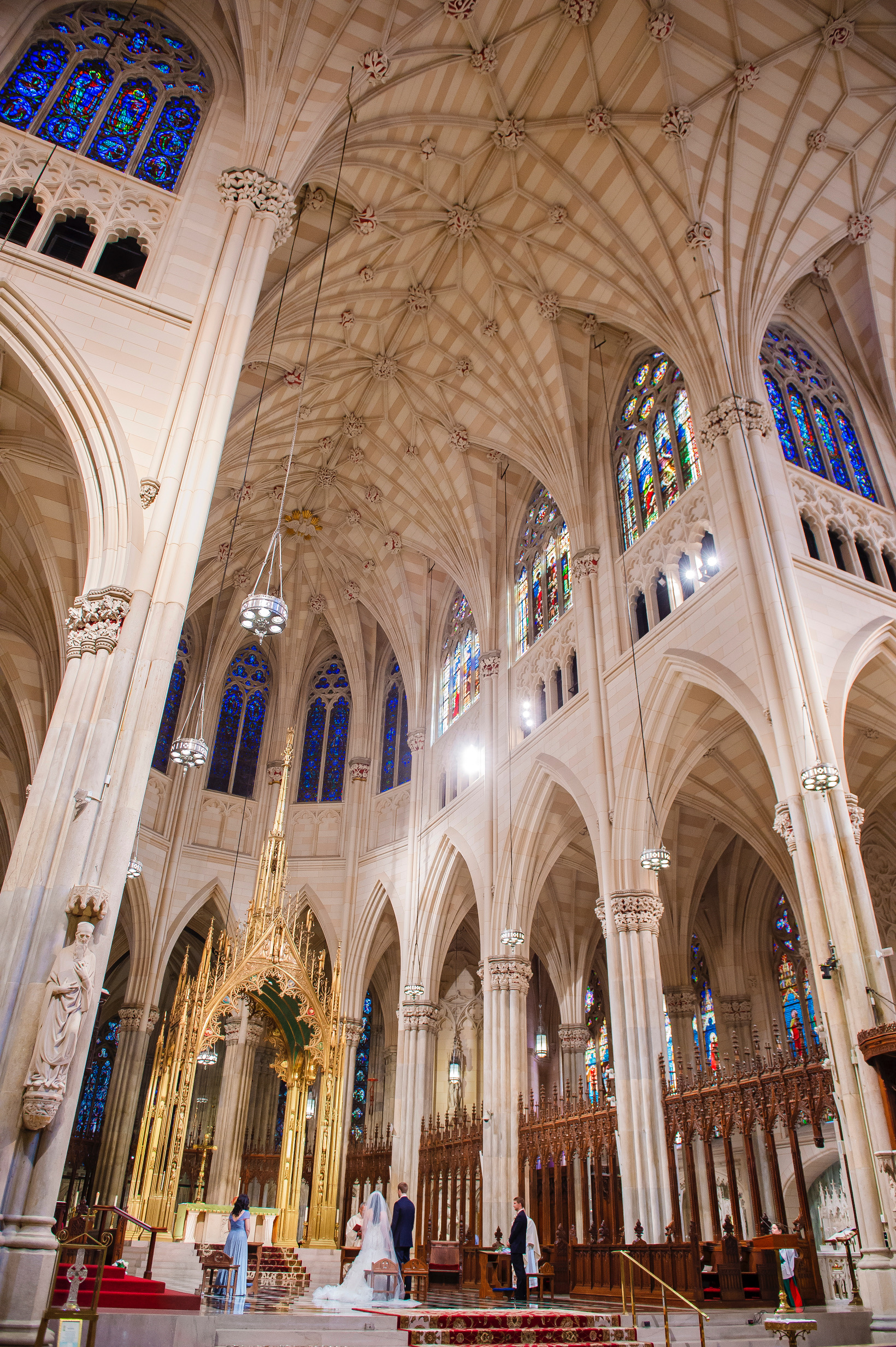 Wedding Ceremony at St. Patrick's Cathedral. Photo:  A Day of Bliss Photography