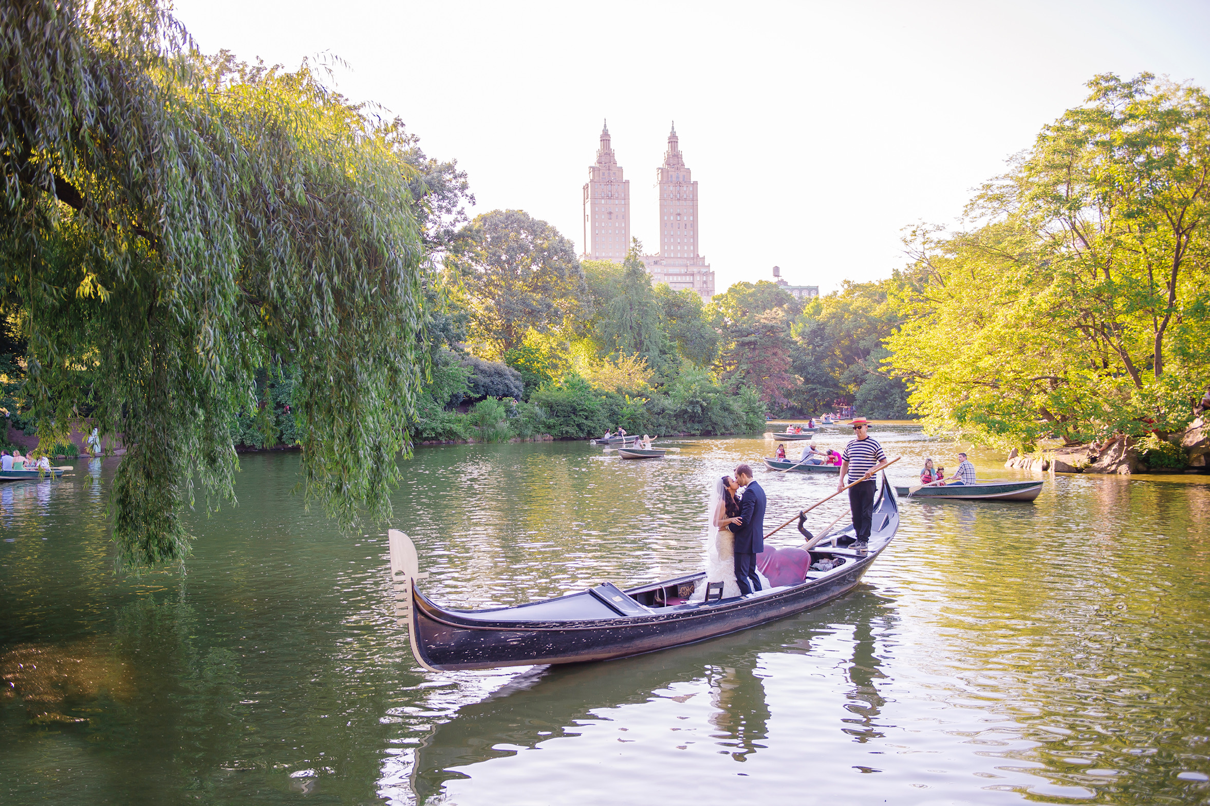 Venetian Gondola @ the Loeb Boathouse in Central Park. Photo:  A Day of Bliss Photography