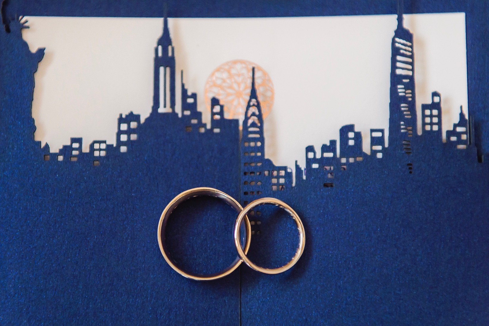 Marineé and Andrew's rings - made by each other in my  Wedding Ring Workshop . Photo:  A Day of Bliss Photography