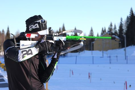THE David Ekholm skis 12 miles in 47 minutes with uncompromising marksmanship -