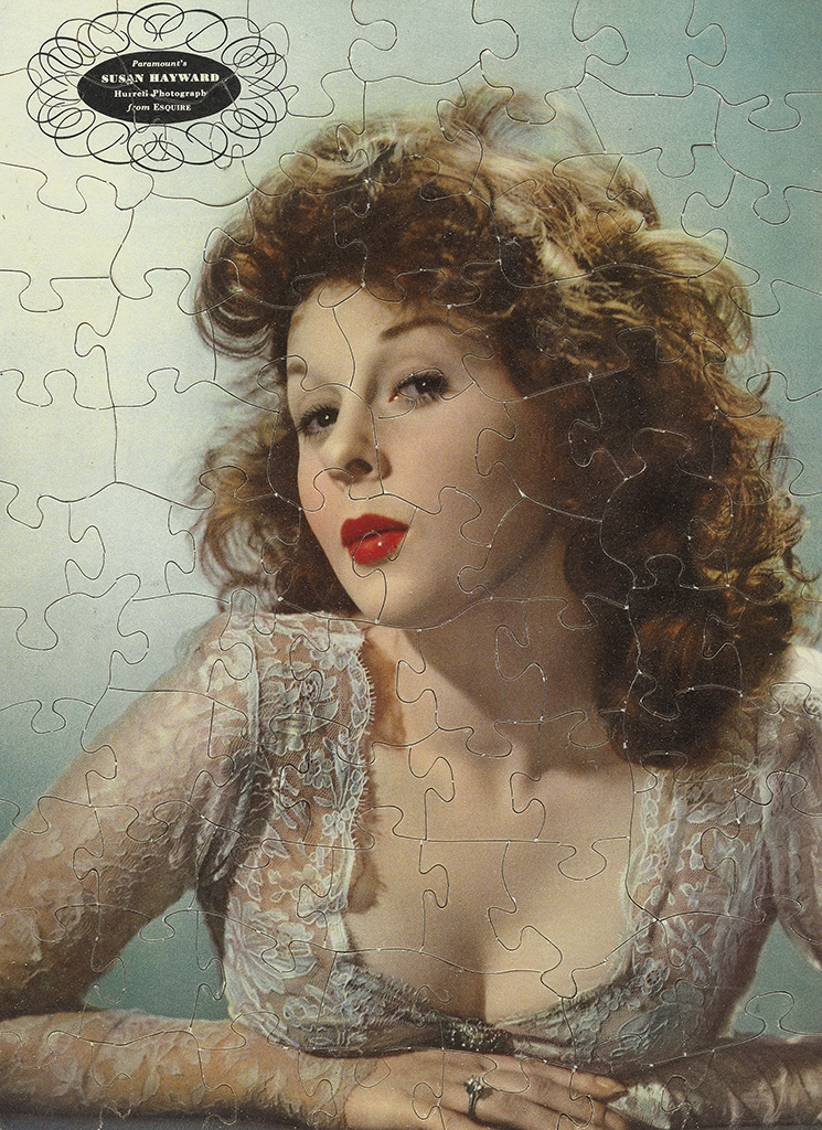 Puzzle with Hollywood starlet  Susan  Heyward (after a photograph by George Hurrell). Circa 1958