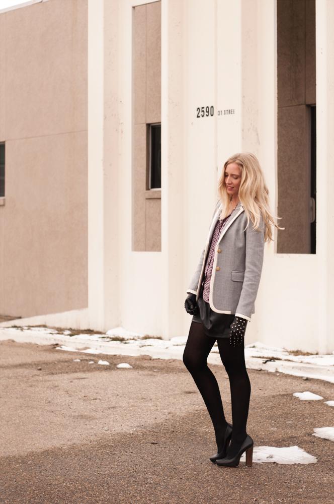 Zara Leather Bermuda Short