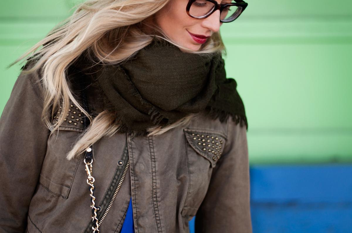 Zara Khaki Wool Scarf