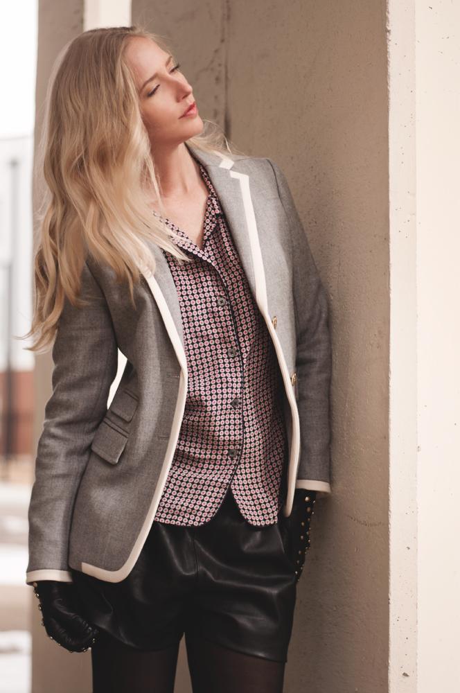 Zara Faux Leather Bermuda Short