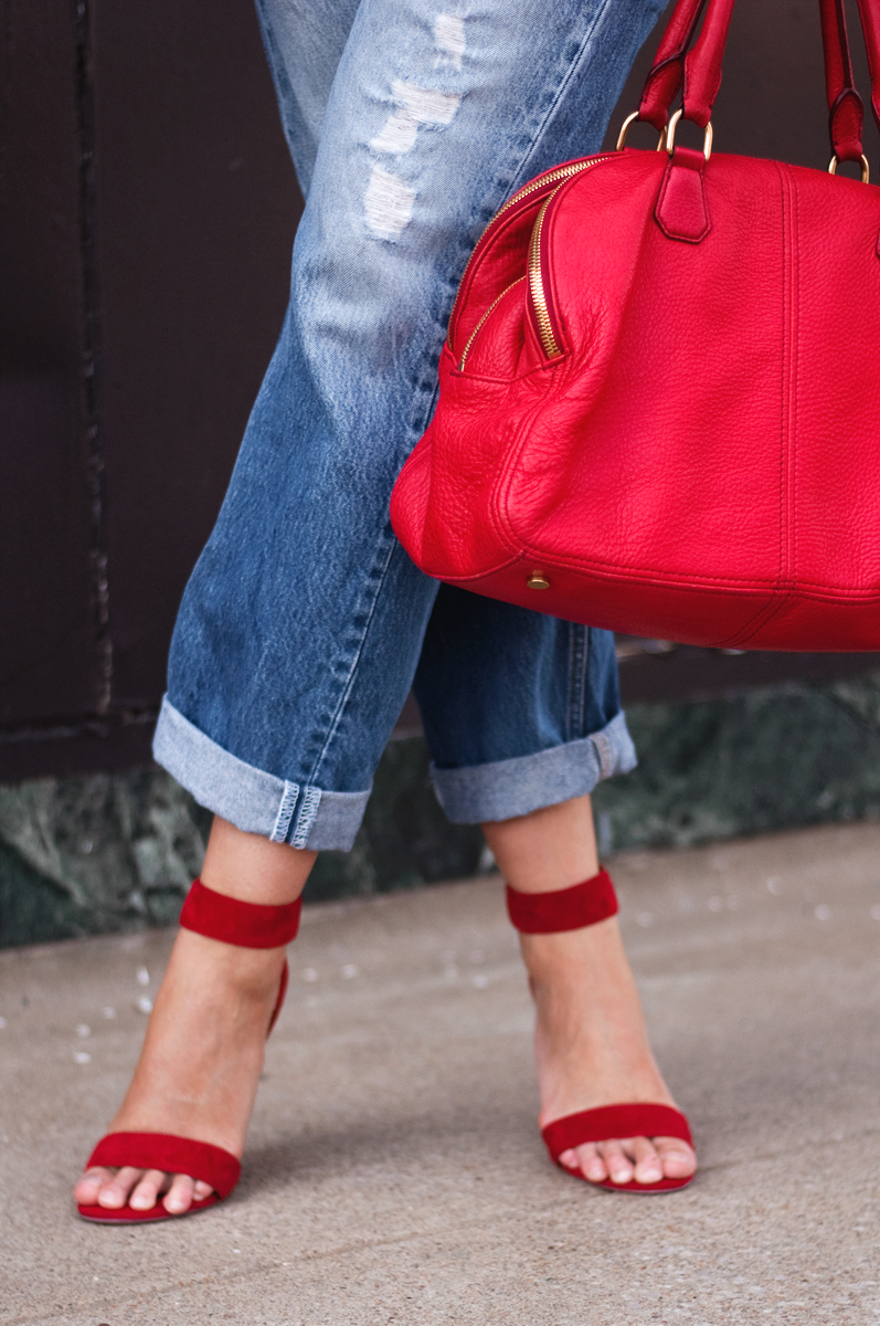 Jeffrey Campbell 'Hough' Red Suede
