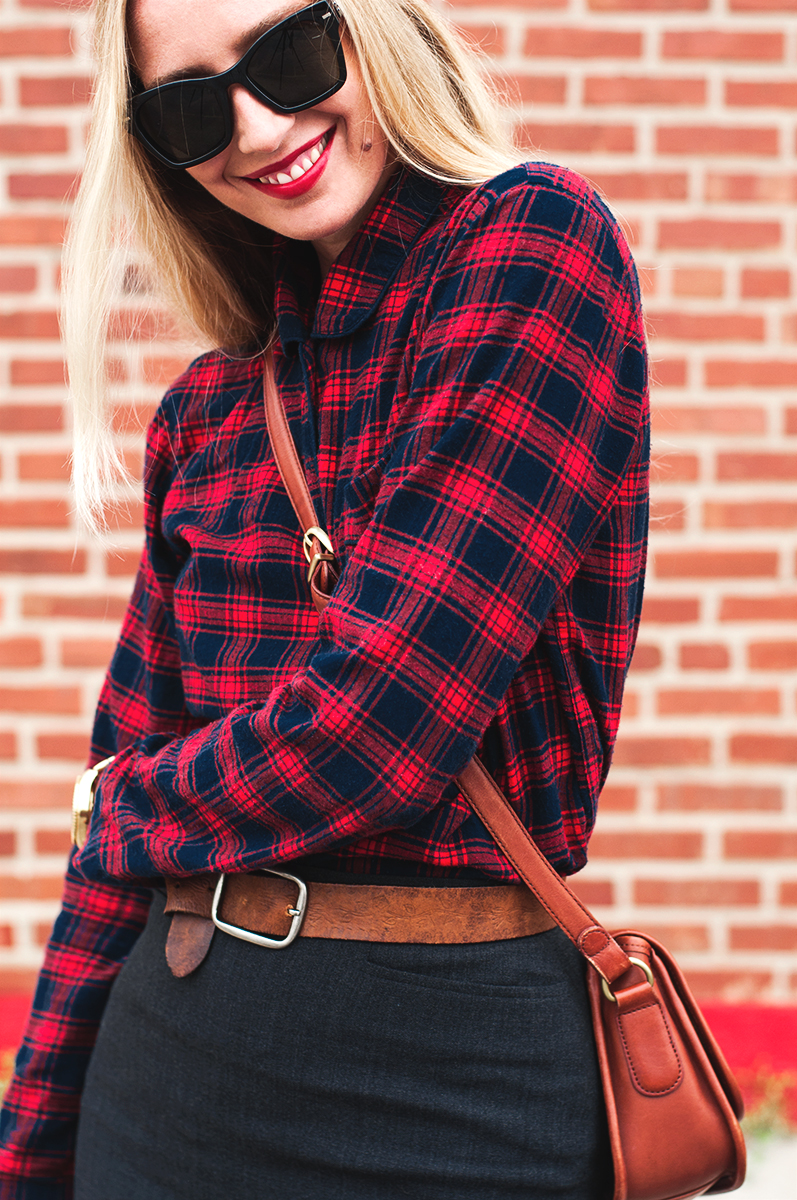 J Crew Red Flannel Shirt