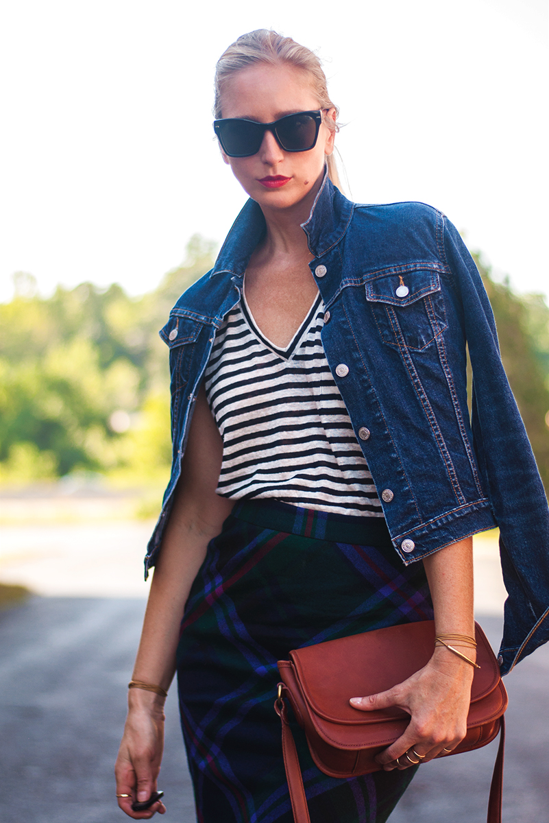 Mixed Prints - Stripes and Plaid