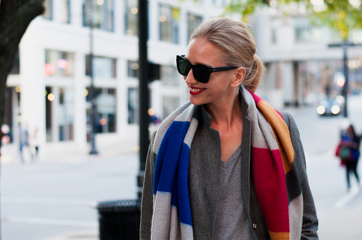 Zara Striped Blanket Scarf